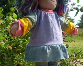 """Waldorf doll PDF pattern and instructions instant download 18"""""""