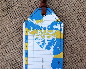 Vintage Map Luggage Tag