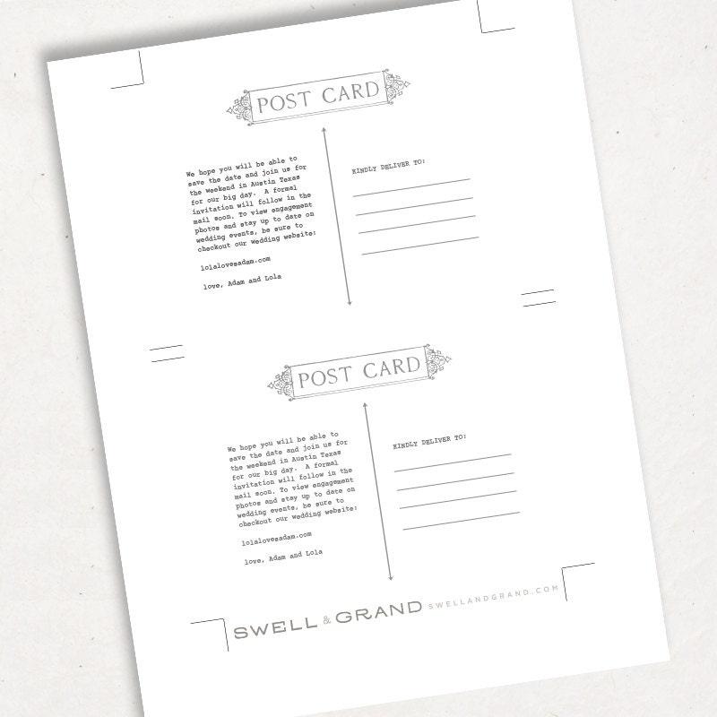 Printable Postcard Template
