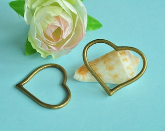20pcs Antique Bronze Lovely Love Heart Charms 28x22mm MM302