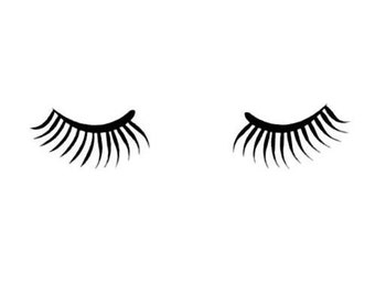 EYELASHES unmounted rubber stamp, womens fashion,  Sweet Grass Stamps No.5