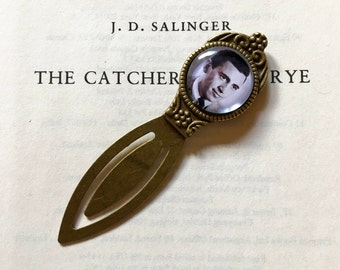 JD Salinger Bookmark - Catcher in the Rye Gift, J.D.Salinger Gift, Holden Caulfield Bookmark, J D Salinger Literary Gift, Vintage Bookmark