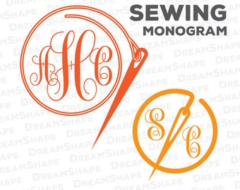 SVG Sewing Cut Files, Vinyl Cutters, Monogram Cricut Files, Screen Printing, Silhouette Studio, Die Cut Machine Instant Download