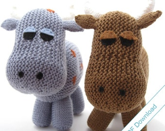Knitting Pattern PDF Toy Cow. Knit Your Own Herd.