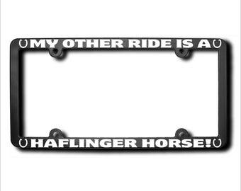 My Other Ride Haflinger Horse License Plate Frame USA (T)
