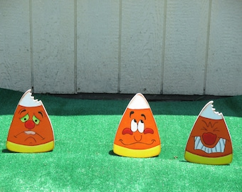 Halloween Krazy Candy Corn Yard Signs