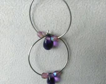 """""""Nebula Butterfly 3"""" hoop"""