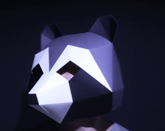Racoon Mask | Paper Mask | Papercraft 3D DIY kit