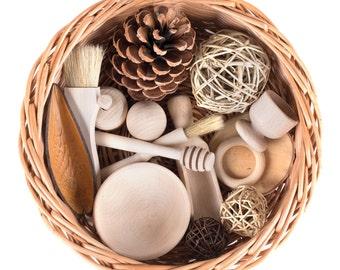 Treasure Basket - Wooden Themed