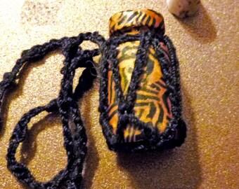 Mini Tiger Stripe Fairy Festival Bottle Necklace