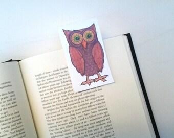 Owl Bookmark, magnetic bookmark, original design