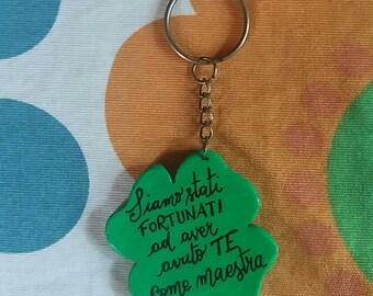 Quadrifoglio Keyring, gift for the teacher
