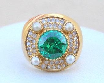 Rare!! Vintage Antique 18 Carat Gold Ring Huge India