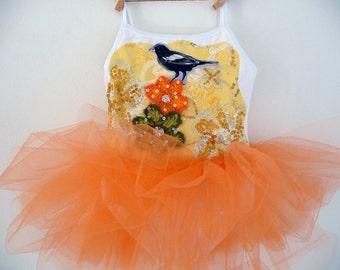BLACK BIRD Leotard Tutu- Bird Dress - Bird Tutu - Birthday Tutu -Sizes 18/24 months, 2/4 years, 4/6 years, 6/8 years up