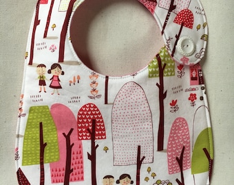 Hansel and Gretel in the Woods Infant Bib - Baby Girl
