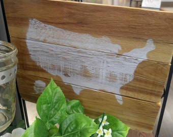 Hand Crafted Pallet with United States