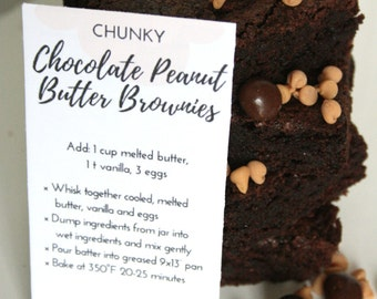 Chunky Chocolate & Peanut Butter Brownie Mix