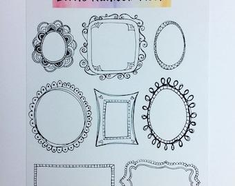 Bujo stickers - Frames
