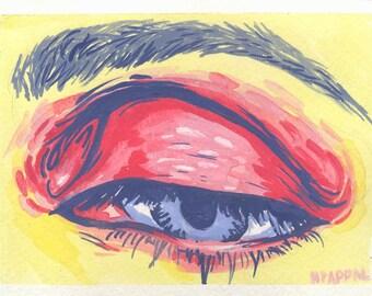 Eyeshadow, Original gouache painting