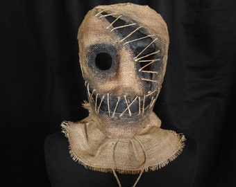 "Mask Scarecrow ""One-eyed"", horror, halloween, masquerade, free shipping"