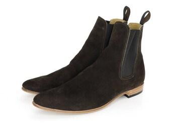 Dark Brown Suede Paul Boots