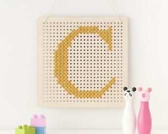 Cross Stitch Pegboard Wall Art Board DIY Craft Kit