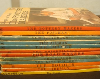 Set of 12 Ladybird vintage 1970s People At Work, Series 606B