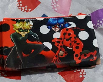 Miraculous Ladybug and chat noir makeup bag