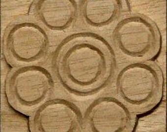 Carved Textile Stamp, African Design, Oshiwa Wood Printing Block, Item 10-17-3