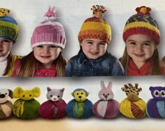 Top this hat knitting kit - yarn and hat topper buy 6 get one free!