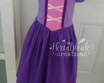 Rapunzel - Princess Inspired Dress - Sizes 6/12 months through 10