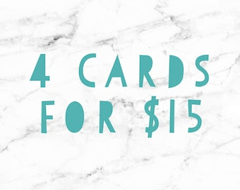 Card package of 4 for 15