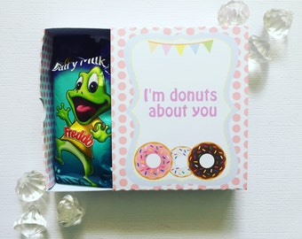 Donut party matchboxes