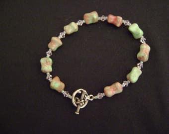 Handmade Bracelet Glass Beads and Swarovski's