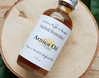 Organic Arnica Oil, Arnica Infused Oil, Sore Muscle Oil, Bruise Oil, Herbal Serum, Swelling Remedy, Arthritis Serum, Herb Infused Oil