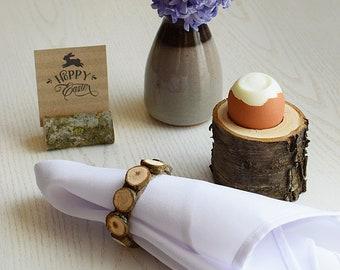 Easter napkin rings, Jute and wooden disc napkin ring, rustic napkin rings, jute napkin rings, jute serviette rings, wood burlap napkin ring