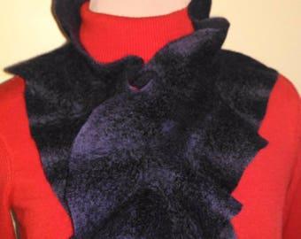 Scarf boa. Warm scarf, scarf, wool and silk, woolen scarf, black scarf, warm scarf, scarf for her