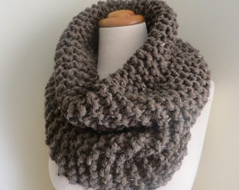 Luxe Chunky Cowl--Taupe