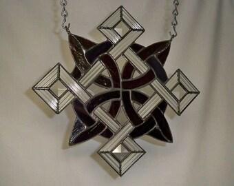 Stained Glass Knotwork Suncatcher