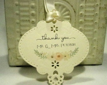 Wedding favor tags - Wedding Favor - Set of 20 - Personalized - Cheers - Custom - Unique - Floral - Watercolor