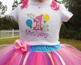 Fun Baby Girls 1st Birthday Outfit,One Year Old Girl Birthday Outfit,1st Birthday Tutu Outfit,