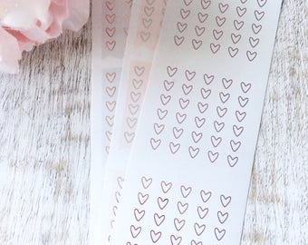 Boxed Open Heart Checklists   Foil planner stickers