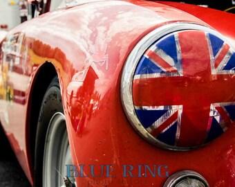 Union Jack -8x12 British Race Car Print
