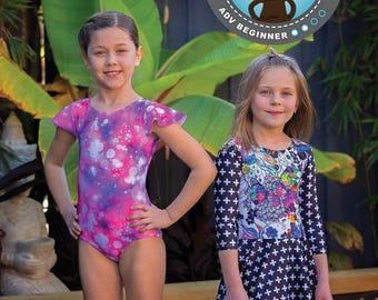 PATTERN Sleeved Leotard - PDF Pattern and Tutorial (Instant Download)