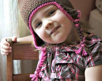 Infant/Child Crochet Earflap Hat