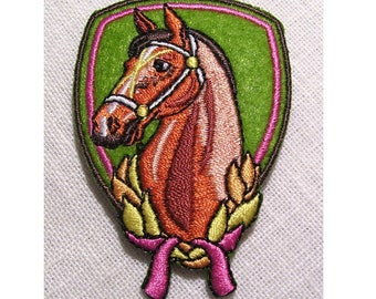 Patch embroidered patch Thermo * 4.5 x 7 cm * horse BADGE - Applique iron-on