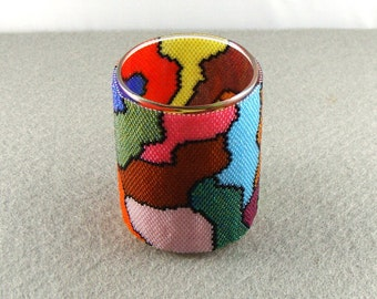 psychedelic random shapes votive wrap