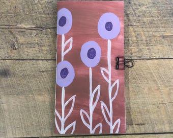 Lavender Flower Travelers Notebook Insert - Midori Insert - TN Insert - Scrapbooking Insert - Planning Insert  - Art Insert - Various Sizes