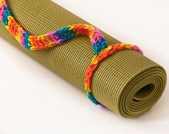 Yoga Mat Strap, Yoga Mat Sling, Yoga Bag, Bikini Print, Slim Tote Handle - US Shipping Included - Original HH Design