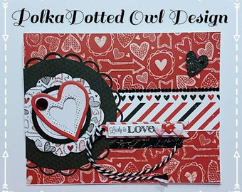 Valentines Day Card,Handmade cards,I love you cards,Be my Valentine,Scrapbooking